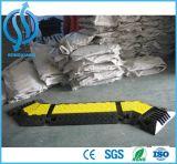 Protecteur de câble extérieur de glissières en caoutchouc 5 de jupe jaune