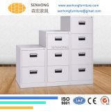 Шкаф для картотеки 2 ящиков вертикальный стальной для офисной мебели