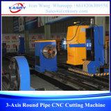 Machine de découpage ronde de pipe de commande numérique par ordinateur de Kasry