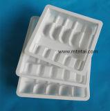 Het witte Plastic Dienblad van pvc van de Kleur voor de Ampullen van het Glas