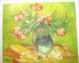 Peinture à l'huile de fleur