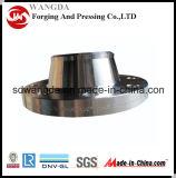 Flange forjada da garganta da solda do aço de carbono A105 (BW), flange do aço de carbono