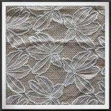 かえで葉の網の刺繍のレースファブリック