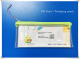 Cassa di cucito riutilizzabile della matita del PVC discussa della chiusura lampo di nylon sul superiore (YJ-K016)