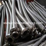 Mangueira industrial do aço inoxidável com extremidades da flange