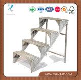 Présentoir en bois d'usine de 4 étapes