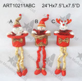 Figura de assento decoração -3asst. do Natal do Sequin da faísca do feriado
