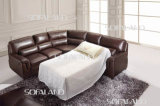 Brown foncé Sofabed et Recliner Leather Corner Sofa