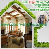 3D 개가시나무 목제 곡물 끝마무리 목제 색깔 여닫이 창 Windows, 알루미늄 클래딩 목제 질 금속 Windows