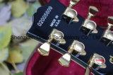 Guitare électrique de matériel de type d'or noir fait sur commande de Lp (GLP-78)