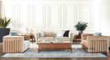 Presidenza di legno classica della sede di amore del sofà del tessuto e strato classico stabilito della Tabella dell'oggetto d'antiquariato