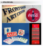Прессформа напольного акрилового логоса круглая всасывая Signage СИД