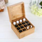 Rectángulo de madera portable caliente del vino de la dimensión de una variable redonda de venta