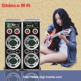 15 Zoll nachladbare Laufkatze-Lautsprecher-mit drahtlosem Mics