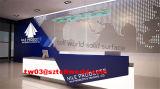 Dimensiones modernas de acrílico del escritorio de recepción del hotel al por mayor mini