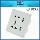 Тип электрическое гнездо EU/UK/Us/Un, 5V 2.1A удваивает стенная розетка USB