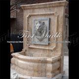 Fontaine de mur en pierre de marbre de calcium d'antiquité de fontaine de granit Mf-1045