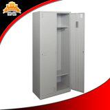 2 Reihe-Metallkleidung-Schrank mit zwei Türen