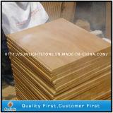 Tuiles en bois jaunes extérieures aiguisées de grès des graines