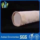 Matériau de fibre de l'usage PPS/PTFE de filtration de poudre du sachet filtre