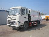 Châssis de Dongfeng camion d'ordures de compacteur d'ordures de 13 mètres cubes