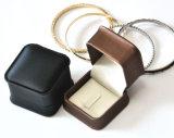 Qualitätsschmucksache-Verpackungs-Kasten hergestellt vom Leder für Ring-Manschettenknopf-Juwel-Schmucksachen (Ys309)