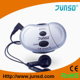 Mini podómetro con la radio auto de la exploración FM (JS-208D)