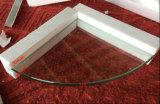 vetro Tempered della mensola Polished piana di 10mm con 2 fori