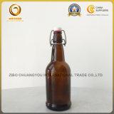 16oz de amberFles van het Bier van het Glas met Ceramische Schommeling GLB (584)