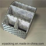 Caixa de armazenamento nova do arquivo do escritório do plutônio do couro