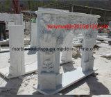 백색 돌 조각품 대리석 벽난로 (SY-MF004)