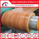 Bobina de aço pré-pintada de madeira / padrão de madeira Bobina de aço PPGI / bobina de aço pré-pintada