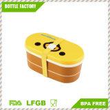 L'alta resistenza termica del fumetto lle bacchette BPA di 2 strati libera la casella di pranzo di plastica di Bento del recipiente di plastica