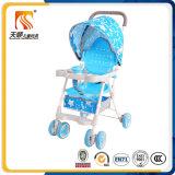 Asiento plástico del cochecito de bebé de 6 ruedas para el niño