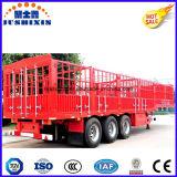 Cargo a granel de tres árboles/semi-remolque de la estaca del ganado/de las aves de corral/del transporte del ganado con la tienda