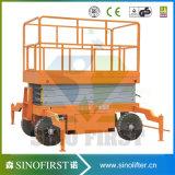 Hoogste Kwaliteit 4m 18m Hydraulische Slepende Mobiele Schaar/de Hydraulische Lift van de Schaar