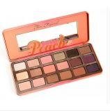 También gama de colores dulce del sombreador de ojos del maquillaje del melocotón del chocolate de la cara