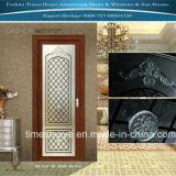 内部ドアのための格子デザインのアルミニウムドアのプロフィール