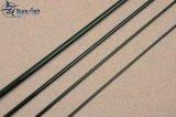 韓国カーボン緑色のフライフィッシングの棒の安い卸し売りブランク