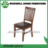 梯子の背部が付いている椅子を食事する焦茶PUのシートライトカシ木