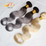 Trama bionda dei capelli di colore dei capelli indiani di Remy di prezzi di fabbrica