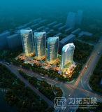 高レベルのレンダリングを模倣する高層住宅3Dデザイン