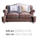 Sofa en bois classique de tissu pour la salle de séjour