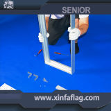 Cadre léger éclairé à contre-jour latéral personnalisé de tissu du prix usine double DEL