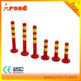 Barrera amonestadora reflexiva del tráfico de la columna del tráfico de la columna del tráfico del poste de la PU