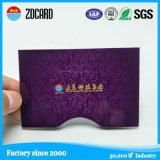 Suporte personalizado impermeável da folha da luva do cartão do suporte de cartão finamente