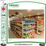 Estantes del estante del supermercado de la góndola del almacén del metal