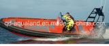 Tube rempli non aérien d'Aqualand 26feet 8m/D-Type solide bateau gonflable rigide d'aile de mousse d'EVA/bateau de côte (rib800)