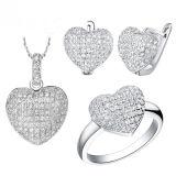 円形のマイクロは925の銀製の宝石類の一定の全販売をセットした