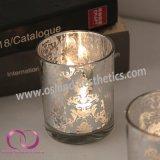 ヨーロッパ型パターン電気版のガラス蝋燭ホールダーの蝋燭のコップ